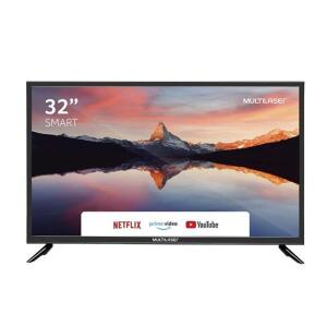 Tela Smart 32 Pol HD Multilaser Wi-Fi Integrado + Conversor TV Digital - TL011 | R$ 879 [ R$ 659 AME]
