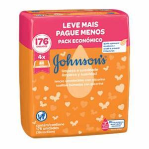 16 pacotes Lenço umedecido Jhonson's leve 4 pacotes pague 3