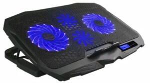 Cooler para Notebook Ingvar Gamer com LED Azul e 4 Ventoinhas Warrior - AC332 | R$ 136
