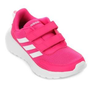 Tênis Juvenil Adidas Tensaur Run C - Rosa e Branco | R$ 86