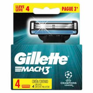 2X Kit Cartucho Gillette Mach3 4 Unidades (8 NO TOTAL)