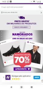 Dia dos namorados Netshoes até 70%off