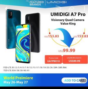 Smartphone UMIDIGI A7 Pro 64gb 4gb Ram.   R$ 503