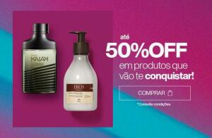 Até 50% Desconto produtos Natura