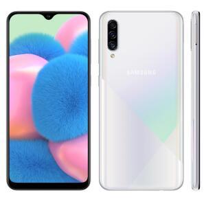 "Smartphone Samsung Galaxy A30s Branco 64GB, 4GB RAM, Tela Infinita de 6.4"""