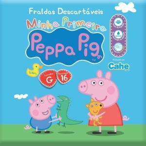 (PRIME) Fralda Prática, Peppa Pig, G, Pacote de 16