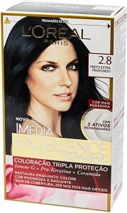 L'Oréal Paris, Coloração Imédia Excellence Extra Profunda, 2.8 Preto Poderoso | R$27