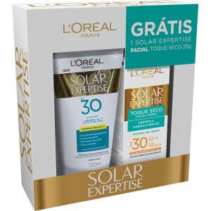 Kit Protetor Solar L´oréal 4 Fps30 Corporal 120ml e Facial 25g - R$34