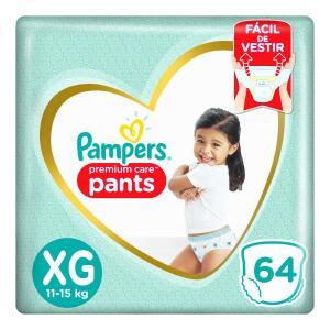 4 Fralda Pampers Pants Premium Care Tamanho Xg Com 64 Unidades - R$240