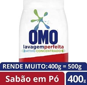 Lava-Roupas em Pó Omo Lavagem Perfeita Pacote 400g, OMO - PRIME