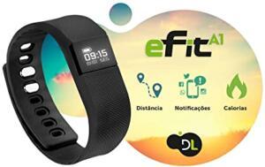 Pulseira Inteligente Esportiva, DL, Smartwatch para Esportes, Preto - PRIME