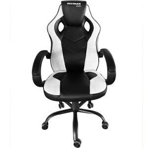 Cadeira Gamer MX0 Giratoria Preto/Branco - Mymax | R$ 539