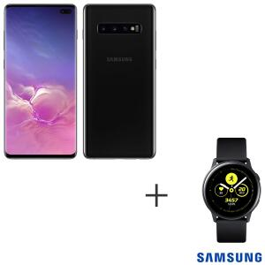 Samsung Galaxy S10 Plus + Galaxy Watch Active   R$3.289
