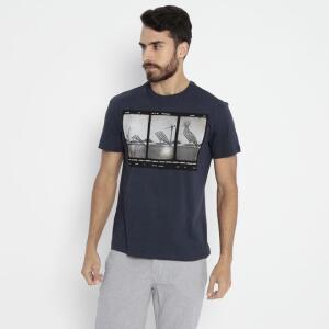 Camiseta Fotografia - Azul Marinho & Cinza - Reserva   R$65