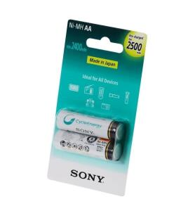[PRIME] Pilha AA Recarregável - 2500mAh. - Sony (2 unidades) - NH-AA-B2GN