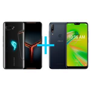 ASUS ROG Phone II 8GB/128GB Preto + Zenfone Shot Plus 4GB/128GB Azul | R$4.050