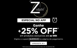[APP] 25% OFF em itens selecionados até às 06h | Zattini
