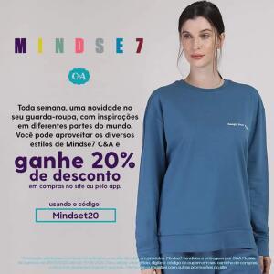 20% de desconto em produtos Mindse7