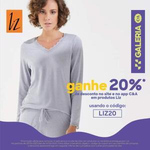 20% de desconto em produtos LIZ