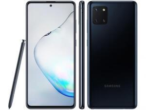 "Smartphone Samsung Galaxy Note 10 Lite 128GB Preto - Octa-Core 6GB RAM Tela 6,7"" Câm.Tripla Selfie 32MP R$2.519"