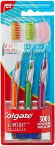 [PRIME] Escova Dental Colgate Slim Soft Advanced Blister com 3 unidades