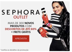 Outlet Sephora com até 60% OFF