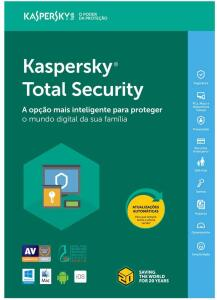 Kaspersky Total Security - Multidispositivos - 3 Dispositivos, 1 ano | R$55