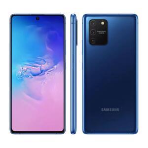 """Galaxy S10 Lite Azul 128GB, 6GB RAM, Tela Infinita de 6.7"""", Leitor Digital na Tela, Câmera Traseira Tripla e Android 10.0 R$2.399"""