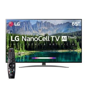 "Smart TV LED 65"" UHD 4K LG 65SM8600PSA NanoCell, ThinQ AI Inteligência Artificial IoT, IPS, HDR, Dolby Vision, Dolby Atmos"
