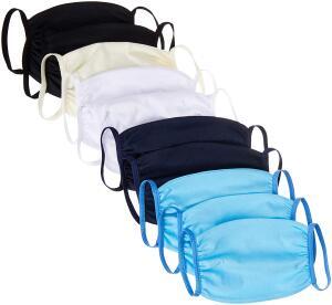 Kit 10 Mascaras De Tecido Duplo 100% Algodão Sortidos Arsie | R$29