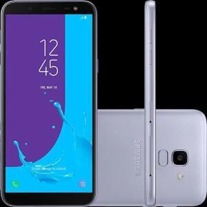 "Smartphone Samsung Galaxy J6 64GB Dual Chip Android 8.0 Tela 5.6"" Octa-Core 1.6GHz 4G Câmera 13MP - Prata"