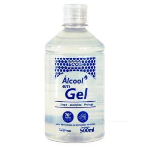 Alcool Em Gel 70% Inpm 430 Gr 500 Ml Ecolar