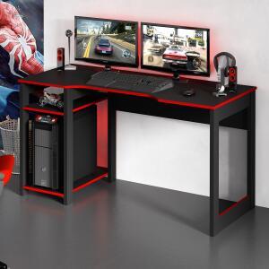 Mesa Para Computador Gamer Tecno Mobili ME4152 2 Prateleiras R$ 184