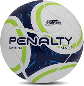 Bola De Futebol De Campo Matis Termotec - Branco-Verde-Azul R$ 66