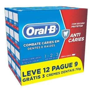 12 Cremes Dentais Oral-b 123 70g - R$18