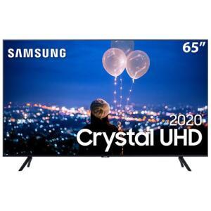"Smart TV LED 65"" UHD 4K Samsung 65TU8000 Crystal UHD, Borda Infinita, Alexa Built In, Visual Livre de Cabos, Modo Ambiente Foto"