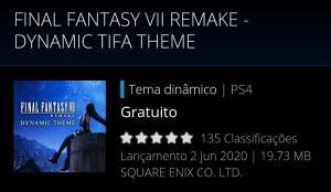 Tema dinâmico Final Fantasy VII grátis