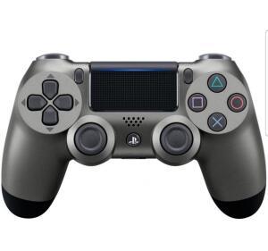 [ CLUBE DA LU + APP ] Controle para PS4 sem Fio Dualshock 4 Sony-Preto Metálico