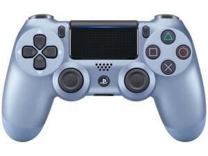 [ CLUBE DA LU + APP ] Controle para PS4 sem Fio Dualshock 4 Sony-Azul Titânio