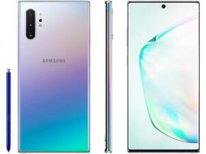 "Smartphone Samsung Galaxy Note 10+ 256GB Prata 4G - 12GB RAM 6,8"" Câm. Quadrupla + Câm. Selfie 10MP   R$3.905"