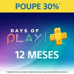 Playstation plus 1 ano - Ps4 e PS3/Psvita R$105 na Playstation store