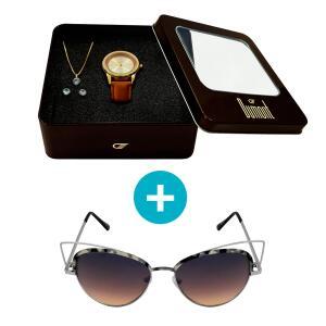 Relógio Dumont Feminino + Óculos de Sol, UV
