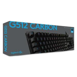 Teclado Mecânico RGB para Jogos Logitech G512 Carbon Tactile ABNT2 | R$ 522