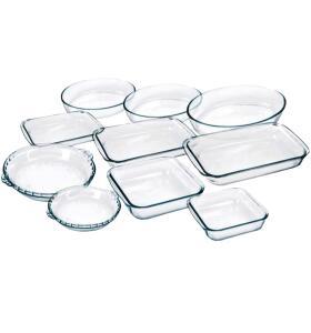 Conjunto de assadeiras de vidro 10 peças- Marinex | R$ 139
