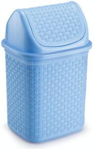 [PRIME] Lixeira De Pia Basculante Rattan 4, 5l Nitronplast Azul | R$13