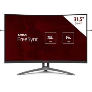Monitor AOC AGON 31.5´ Curvo, FHD, VA, FreeSync, 165Hz, 1ms | R$1.980