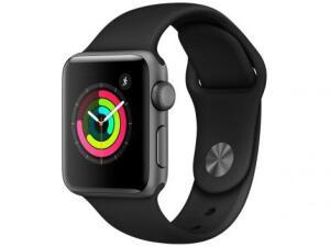 Apple Watch Series 3 38mm GPS Integrado - Wi-Fi Bluetooth Pulseira Esportiva 8GB | R$1.480