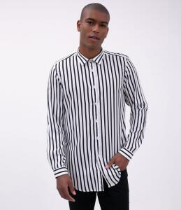 Camisa Listrada - Branco | R$40