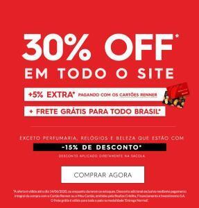35% off em todo site *exceto perfumaria* | Renner