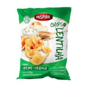 Chips De Lentilha Creme De Cebola 35g - Inspire R$2